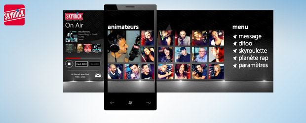 L&#039;appli Skyrock sur Windows Phone 7